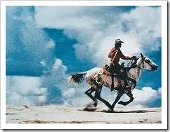 cowboy galloping