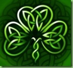 Cropped celtic shamrock