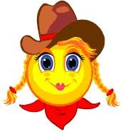 Cowgirl happy face