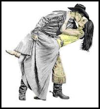 Cowboy kissing
