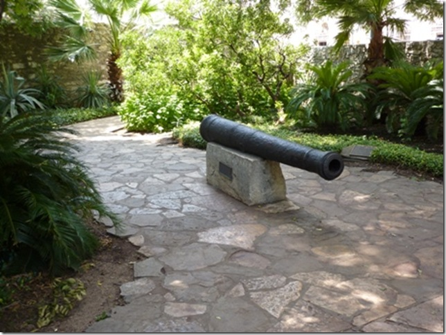 Cannon in courtyard