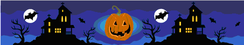MS clipart Halloween banner