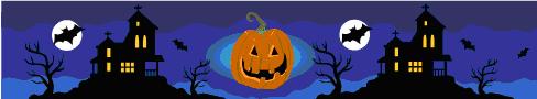 MS clipart Halloween banner