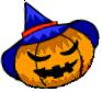 Witch jack o' lantern flipped