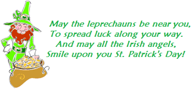 Leprechaun and blessing